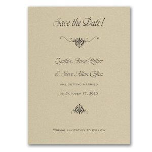 Wrapped in Gold Shimmer Save the Date Card Icon