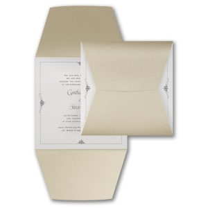 Wrapped in Gold Wedding Invitation Icon