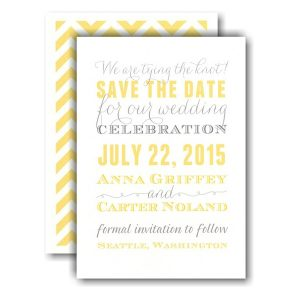 Yellow and Grey Subway Save the Date Card Icon