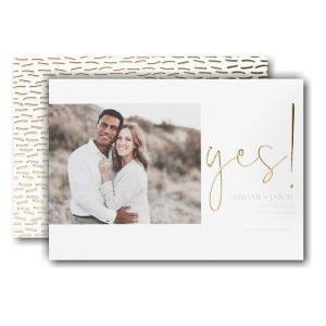 Yes! Save the Date Card