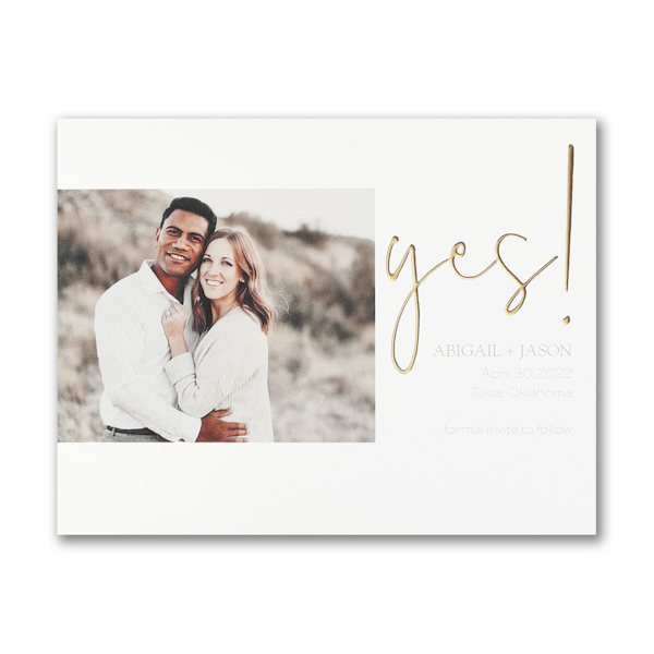 Yes! Small Save the Date Card