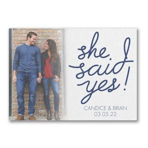 Yes to Love Save the Date Card Icon