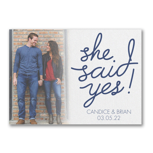 Yes to Love Save the Date Magnet Icon