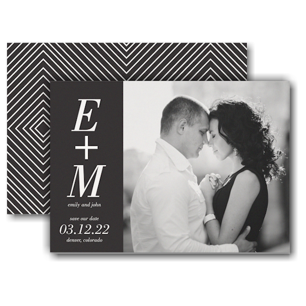 You + Me Save the Date Card Icon