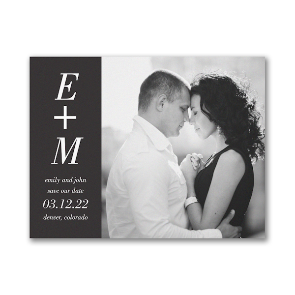 You + Me Small Save the Date Card