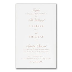 A Matter of Style in White Wedding Invitation Icon