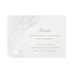 Affair of the Heart in White Reception Card