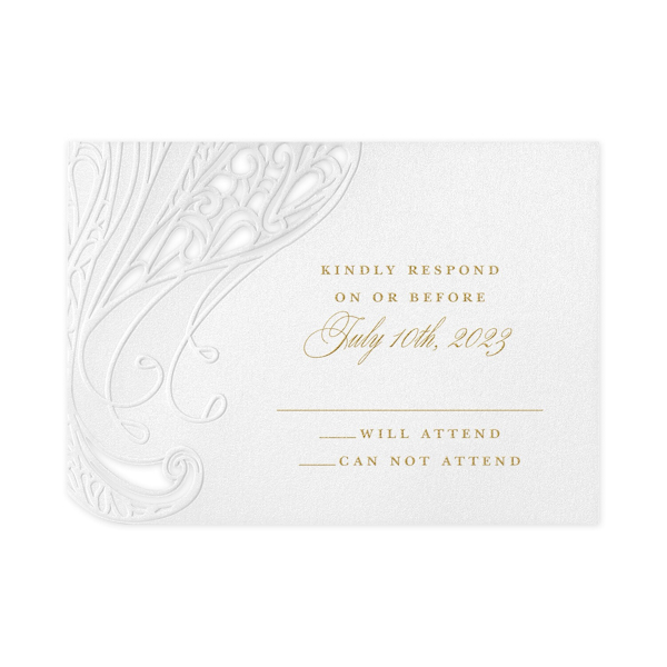 Affair of the Heart in White Response Card