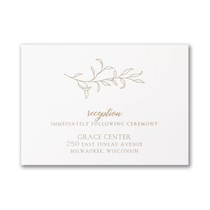 Banded Foliar in White Reception Card