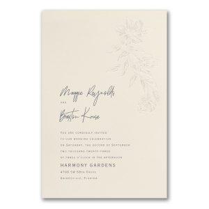 Cascading Flowers in Ecru Wedding Invitation Icon