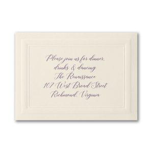 Classically Bordered in Ecru Reception Card