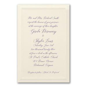 Classically Bordered in Ecru Wedding Invitation