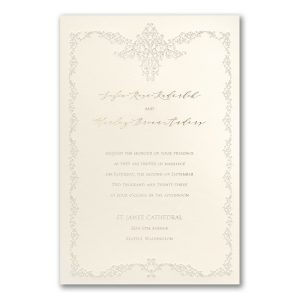 Filigree Frame in Ecru Wedding Invitation Icon
