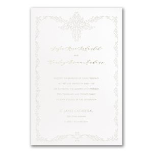 Filigree Frame in White Wedding Invitation Icon