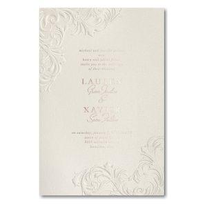 Flourish Corners in Ecru Wedding Invitation Icon