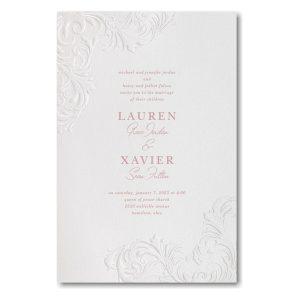 Flourish Corners in White Wedding Invitation Icon