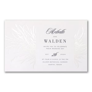 Handpicked with Love in White Wedding Invitation Icon