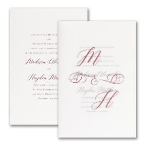 Initial Impressions in White Wedding Invitation Icon