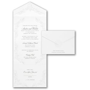 Love Flourishes in White Seal 'n Send Wedding Invitation Icon