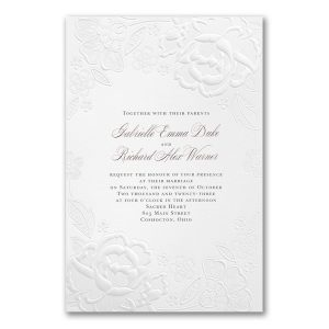 Lovely and Lacy in White Wedding Invitation Icon