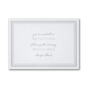 Never-Ending Love in Bright White Reception Card