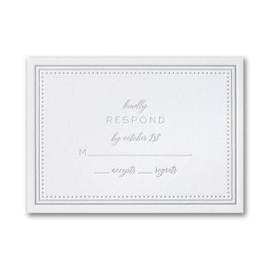Never-Ending Love in Bright White Response Card