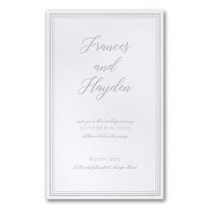 Never-Ending Love in Bright White Wedding Invitation