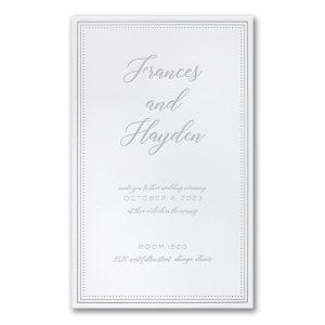 Never-Ending Love in Bright White Wedding Invitation Icon