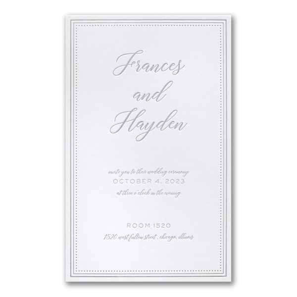 Never-Ending Love in Bright White Wedding Invitation Icon