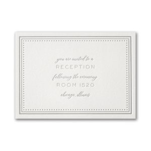 Never-Ending Love in Pearl White Reception Card