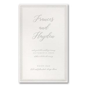 Never-Ending Love in Pearl White Wedding Invitation