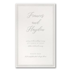 Never-Ending Love in Pearl White Wedding Invitation Icon