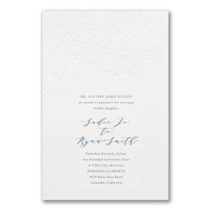 Richly Rosy in White Wedding Invitation Icon