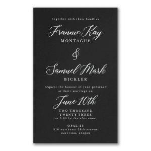 Say it with Elegance in Black Wedding Invitation Icon