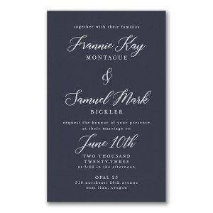 Say it with Elegance in Navy Wedding Invitation Icon