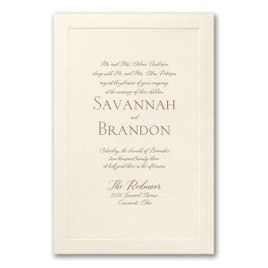Simple Border in Ecru Wedding Invitation Icon