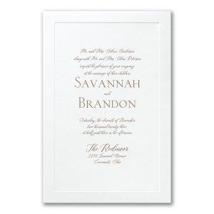 Simple Border in White Wedding Invitation Icon