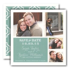 Simple Pool Block Photo Save the Date Card