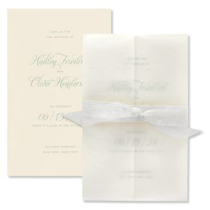 Sprinkled with Love in Ecru White Ribbon Wedding Invitation Icon