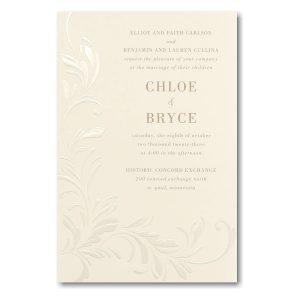 Wispy Flourishes in Ecru Sep 'n Send Wedding Invitation Icon