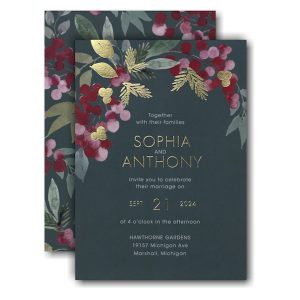 Berry Bunches Wedding Invitation Icon