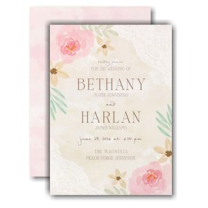 Budding Watercolor Wedding Invitation Icon