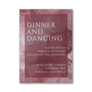 Dyed Ice in Wine Layered Pocket Reception Card