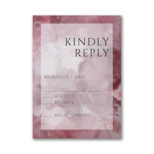 Dyed Ice in Wine Layered Pocket Response Card