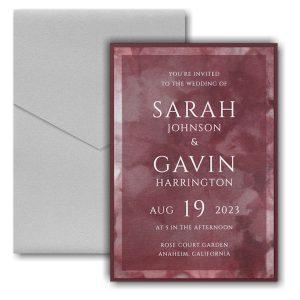 Dyed Ice in Wine Layered Pocket Wedding Invitation Icon