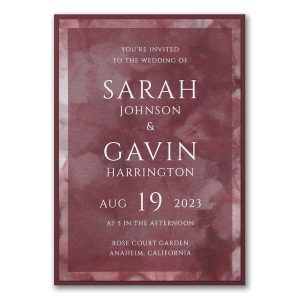 Dyed Ice in Wine Layered Wedding Invitation Icon