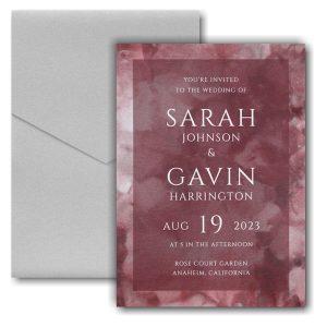 Dyed Ice in Wine Pocket Wedding Invitation Icon