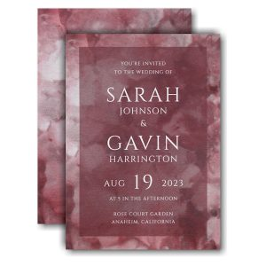Dyed Ice in Wine Wedding Invitation Icon