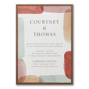 Earthy Shapes Layered Wedding Invitation Icon