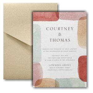 Earthy Shapes Pocket Wedding Invitation Icon